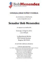 Senador Bob Menendez en Bogota NJ 26 Agosto