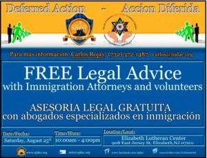 Asesoria grátis don abogados de inmigración y voluntarios