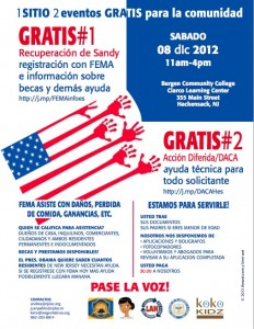 DACA Hackensack 2012 Workshop flyer -es