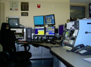 Police dispatch desk